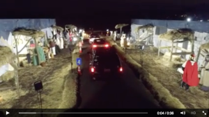Drive-thru Christmas drone video
